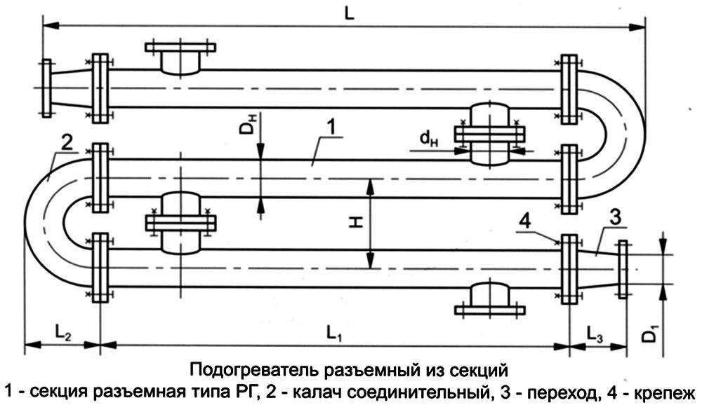 Скоростной водоподогреватель трубчатый схема